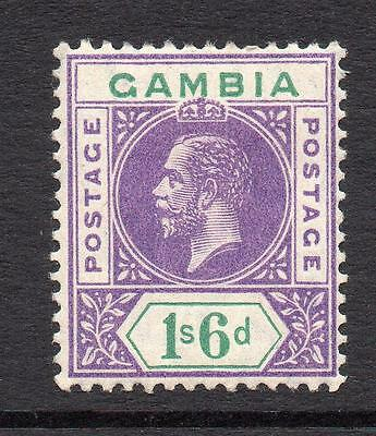 Gambia 1/6 Stamp c1912-22 Mounted Mint