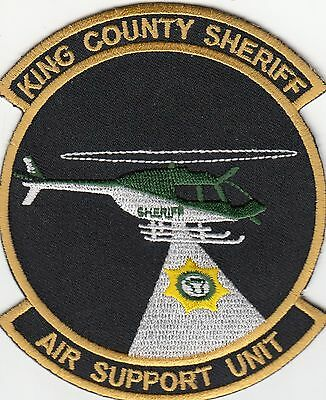 King County Sheriff Air Support Unit Helo Washington Wa Police Patch