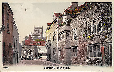 KEVII used postcard #21226 ~ Sherborne : Long Street