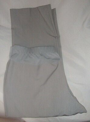 Womens Maternity Dress Pants Size 2X Gray with Belly Band Stretch Duo Maternity