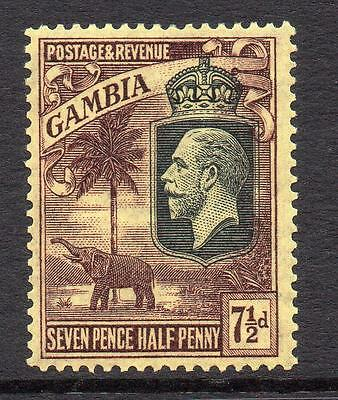 Gambia 7 1/2d Stamp c1922-29 Mounted Mint
