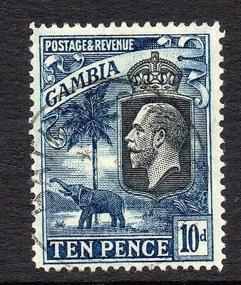 Gambia 10d Stamp c1922-29 Used