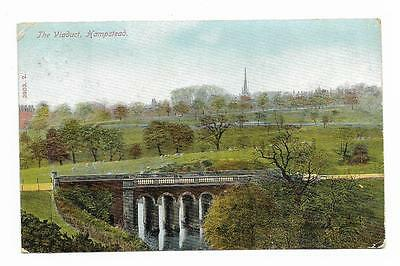 Vintage Postcard. The Viaduct, Hampstead. Mailed in 1906