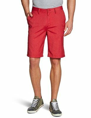 Rosso (Red Heather) (TG. 34) Vans, Pantaloncini Uomo Dewitt, Rosso (Red Heather)
