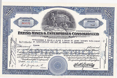 Patino Mines & Enterprises Consolidated-shares v. 1953