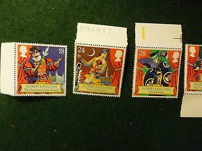 Gilbert & Sullivan Group. Set U/M Stamps, First Day Cover & Set of P.H.Q's