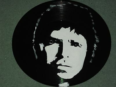 NOEL GALLAGHER, OASIS  HAND PAINTED  12 INS VINYL DISCS  READY TO HANG c