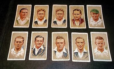 10 Players Cigarette Cards Cricketers 1934 (A)