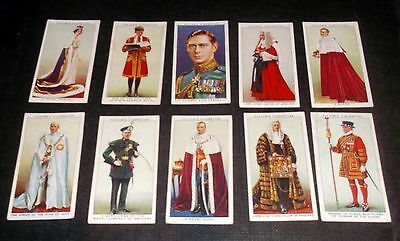 10 Players Cigarette Cards Coronation Series (A)