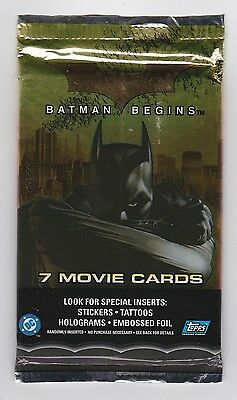 Eight Unopened Packs - Topps BATMAN BEGINS Movie Cards
