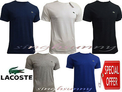Lacoste Short Sleeve Crew Neck T Shirt for Men New With Tag