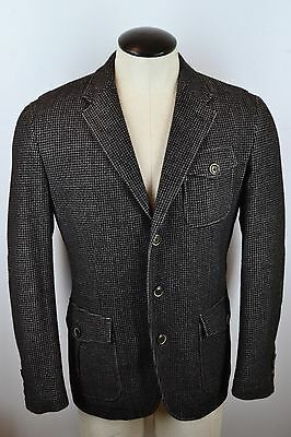 Canali 1934 Silver Current Label Thinsulate Gray/Blk Hacking Jacket Cashmere 52