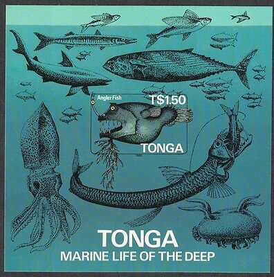 Tonga  Whales Sharks Octopus Marine Fauna MS SG#MS904 SC#601