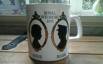 COLLECTABLE.....ANNE & MARK...mug...1973...GOOD CONDITION..STAFFORDSHIRE PO
