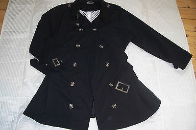damen trenchcoat jacke in schwarz gr 56 neu eur 29. Black Bedroom Furniture Sets. Home Design Ideas
