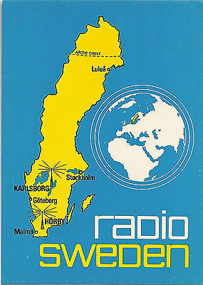 Qsl Radio Card Radio  Sweden 1971