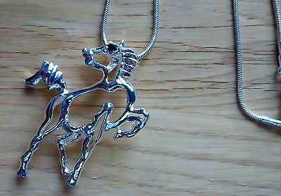 Very attractive Silver Plated 925 Modern Horse Design Necklaces @ £7.95p each !