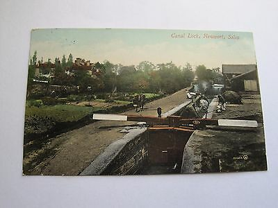 Canal Lock Newport Shropshire  August 1914 war reference