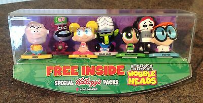 Cased Cartoon Network Set Of Wobble Heads - Free Inside Kelloggs Cereals