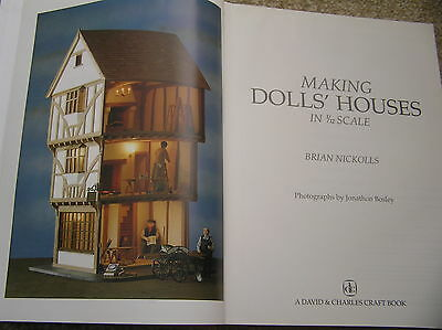Making Dolls' Houses In 1 1/12 Scale Hb Guide Book Brian Nickolls 1991 Projects