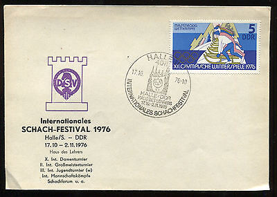 DDR SST 1976: HALLE Internationales Schach-Festival   #23742