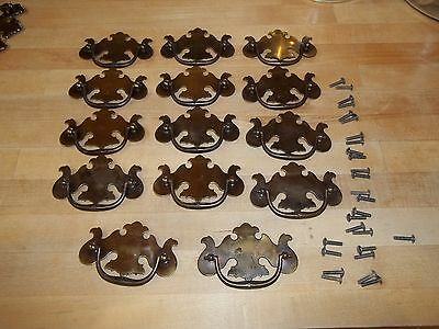 14 Vintage Colonial Chippendale Hardware Handles Drawer Pulls Knobs