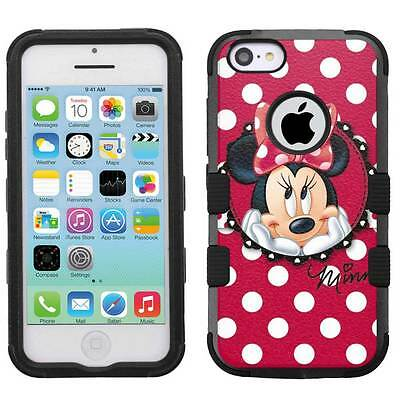 best service 11b83 6f8c9 DISNEY MINNIE MOUSE #RP Hybrid Hard Armor Case for iPhone 5s/SE/6/6s/7/Plus