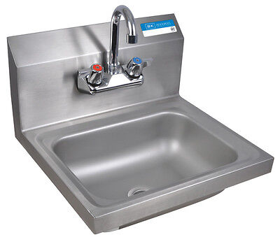 NEW BK RESOURCES Hand Sink with faucet, Model BKHS-W-1410