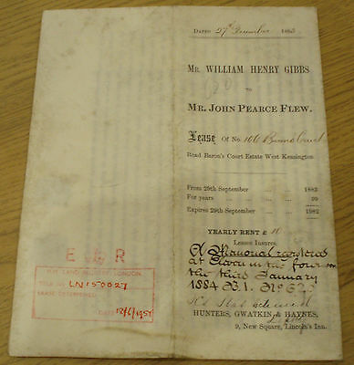 1883 Lease  Document Of No  106 Barons Court London