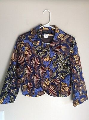 Harve Bernard Multi Colored Cotton Jacket Size 8