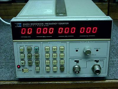 HP 5342A Microwave Frequency Counter with Options 001, 005 & 006 Working