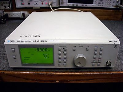 Fluke / Philips PM5139 20 MHz Function Generator (Tested & Working)
