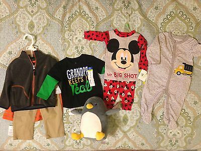 Lot of NWT Baby Items - 6-12 Month Clothes and Plush Penguin!