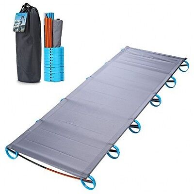 Yahill® Ultralight Folding Bed Portable Cot, Or Tent Bed Replacements Alloy