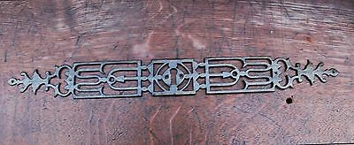 ANTIQUE POSSIBLY 17th Century WROUGHT IRON KEY PLATE