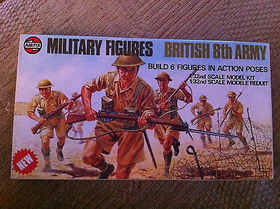 AIRFIX MILITARY FIGURES BRITISH 8TH ARMY 6 figures  scale 1/32