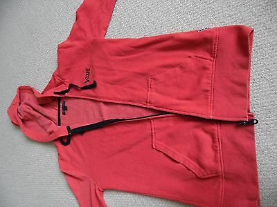 Vans red hoodie size extra small
