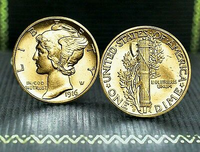 Mercury Dime gold plated coin uncirculated