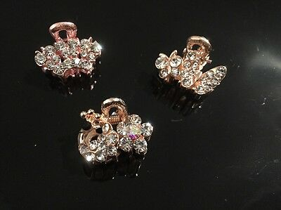 3x Hair Claw Pin Clips Wholesale Job Lot Clearance Uk Seller Sparkly Whit Joblot