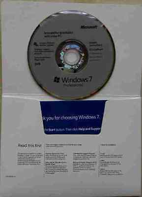 WINDOWS 7 PROFESSIONAL LICENZA NUOVA 64bit BOX DVD ENGLISH VERSION