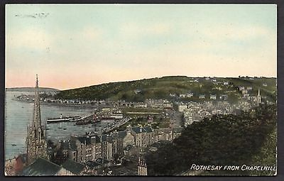 Rothesay From Chapelhill, Argyllshire. Used 1909. Rothesay Cancellation.