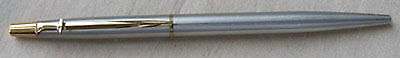 Caran D'Ache ballpoint pen made about 1985 in brushed steel; lightly used