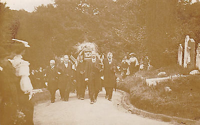 Guernsey Rp Postcard  - Significant Funeral At Le Foulon