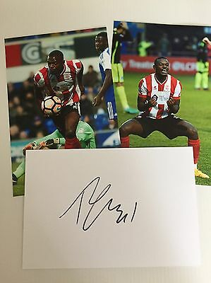 SIGNED CARD LINCOLN CITY FC THEO ROBINSON FA CUP HERO & PHOTOS Imps Sincil Bank