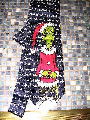 Dr Seuss Grinch Who Stole Christmas Awful Idea Tie  Brand New Very Rare