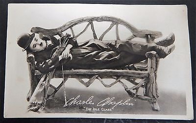 "Charlie Chaplin Original Authentic Golf Movie Card 1921 ""The Idle Class"" Antique"