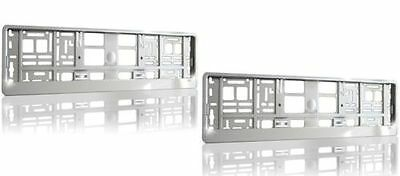 2x SUPPORT PLAQUE Immatriculation Voiture Cadre licence CHROME INOX