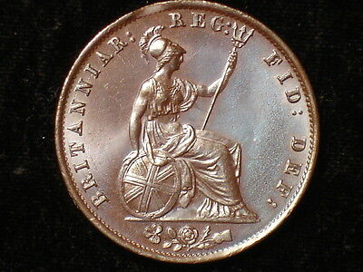 1854 Great Britain 1/2 Penny Beautiful Color and Lustrous!