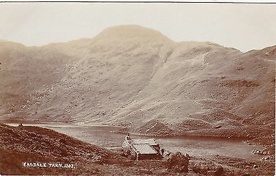 Easdale Tarn & Hut With Man Outside, Nr GRASMERE, Westmorland RP