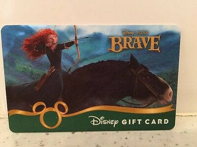 Rare Disney Pixar Gift Card Brave NO VALUE COLLECTABLE ONLY